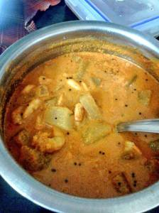 Prawn and Pumpkin curry