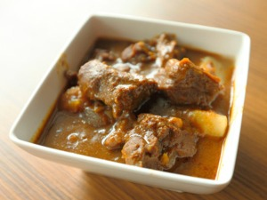 Mutton curry with Ash Gourd