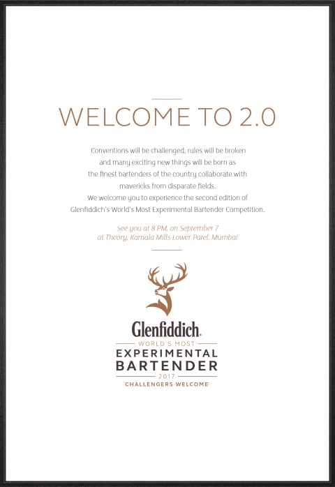INVITE-Glenfiddich's World Most Experimental Bartender Competition