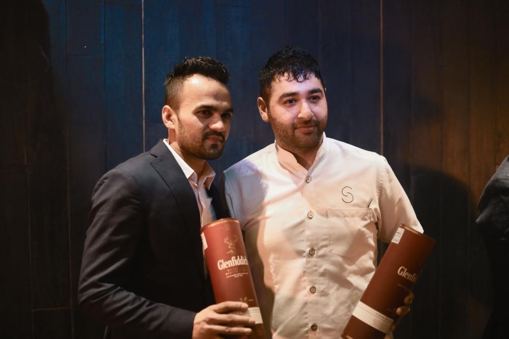 Winners Chef Prateek Sandhu, Masque & Grappa Bartender, Chirag Pal